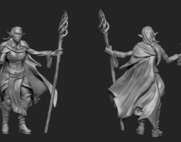 Mage Elf 3D print model