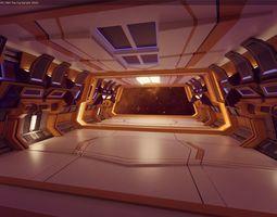 VR / AR ready Modern Scifi Hangar Corridor 3d Modules