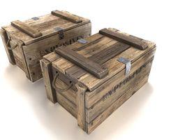 3D model realtime Explosives crate 3 PBR