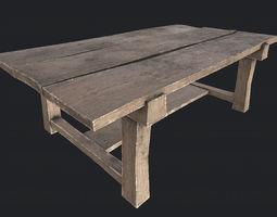 3D asset Wooden Table 3 PBR