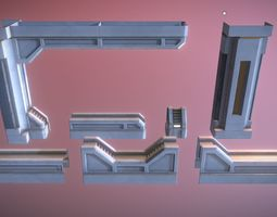 Sci-Fi Supports Kit 3D asset