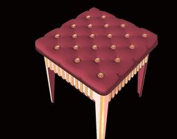 3D Stool - Furniture for Games