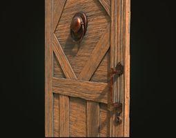 3D model medieval-door Old door