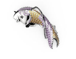3D print model Fish brooch