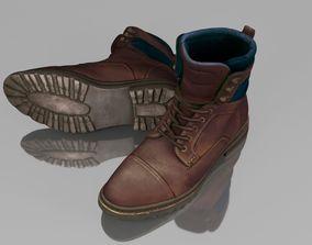 3D asset Winter boots