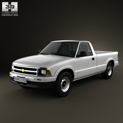 Chevrolet S10 Single Cab Long Bed 1994 3D model | CGTrader