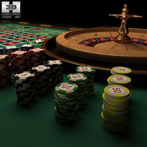 Casino Roulette Table3D model