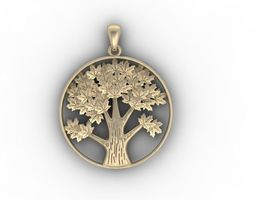 tree pendant amulet 3D print model