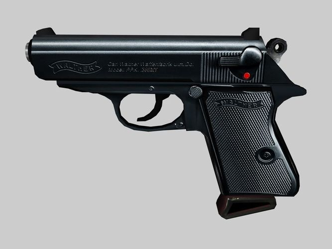 3d asset walther ppk cgtrader