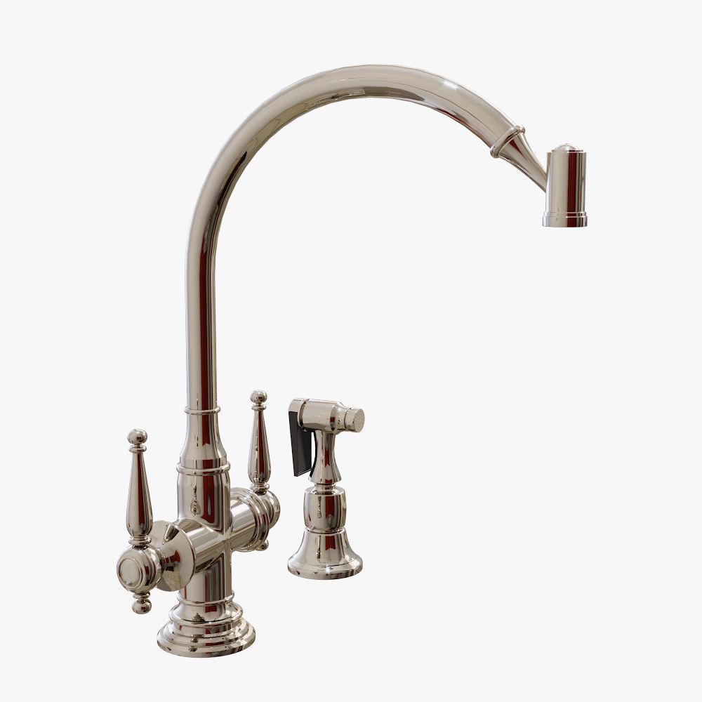 Kallista - Bacchus Kitchen Faucet with 3D model 2