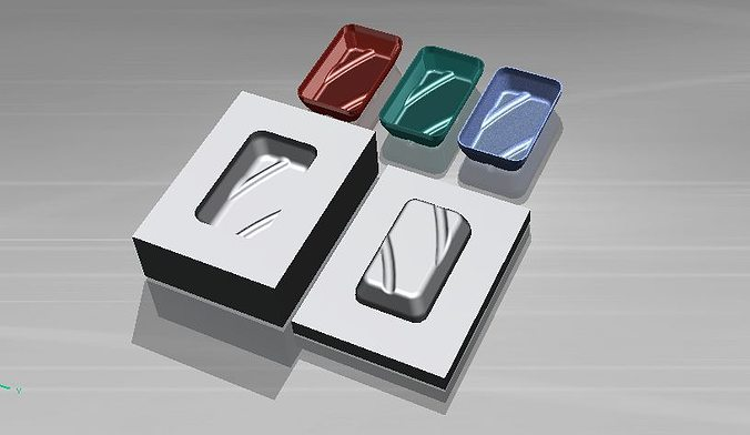 mold design  plastic core  cavity - by nx6 3d model  1