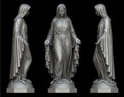 Virgin Mary Statue 3D printable model
