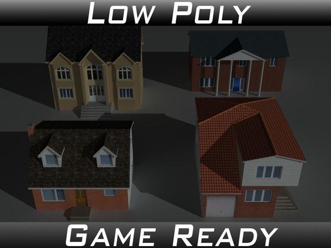 house collection set 2 3d model obj 3ds fbx mtl 1