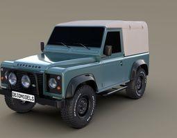 3D model 1985 Land Rover Defender 90