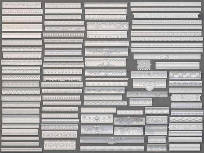 cornice collection -1 - 99 pieces 3d model max obj mtl fbx stl 1