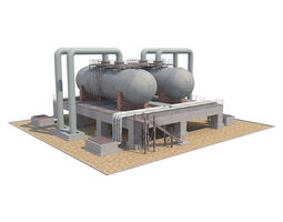 Industrial Silo 01 3D model realtime