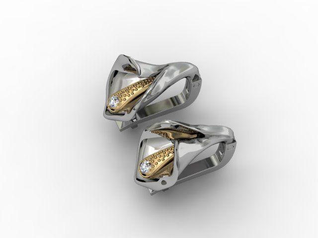 calla earring 3d model stl 3dm 1