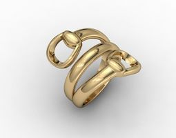 accessories 3D printable model belt ring