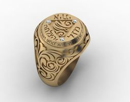 silver 3D printable model jewellery man ring