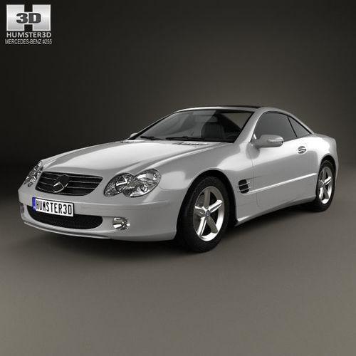 mercedes-benz sl-class r230 2001 3d model max obj mtl 3ds fbx c4d lwo lw lws 1