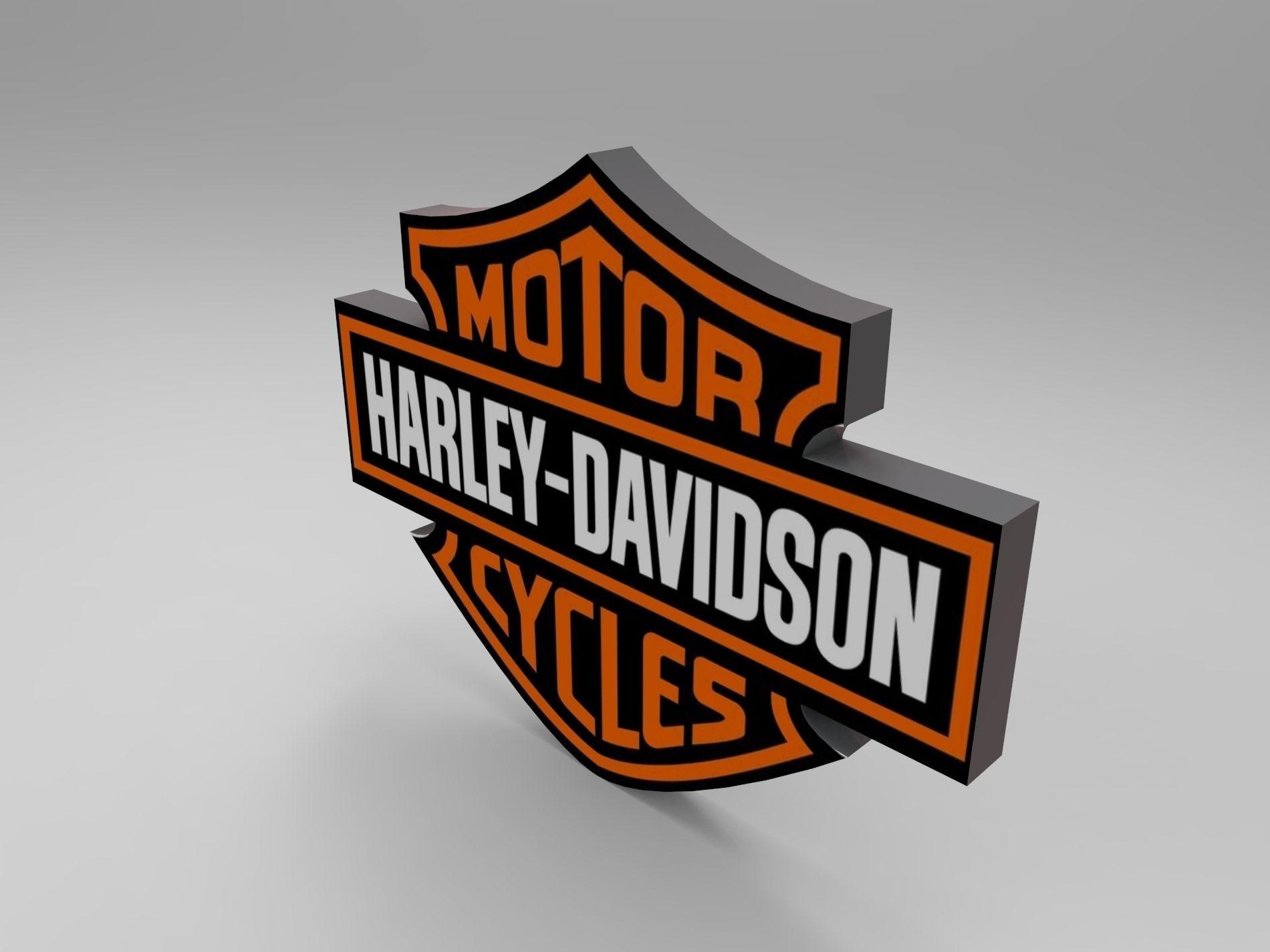 Harley logo 3D model   CGTrader