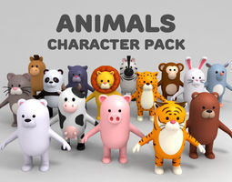 tiger Cartoon Animals Model Pack