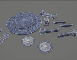 3D model low-poly Stylized dungeon pack