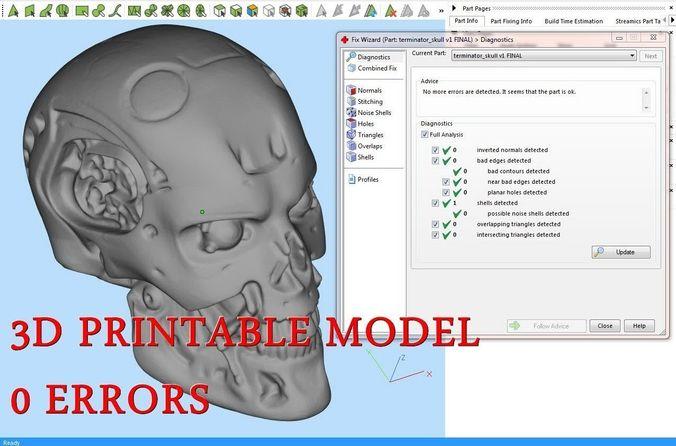 skull 3d model obj mtl stl amf 1