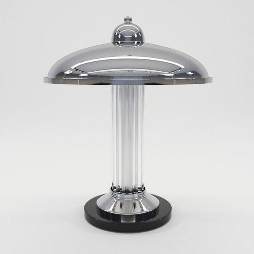 desk lamp limoges - art deco style 3d model max obj mtl fbx pdf 1