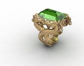 horse ring 3D printable model gold