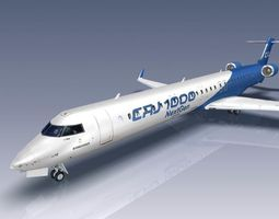 3D model Bombardier CRJ1000