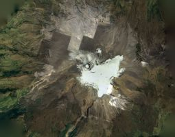 Nevado Del Ruiz Volcano 3D model