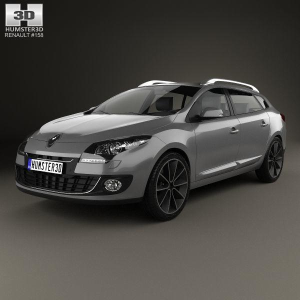 Renault Megane Estate: 3D Renault Megane Estate 2012