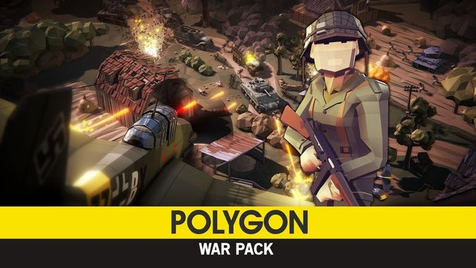 polygon - war pack  3d model low-poly obj fbx ma mb tga unitypackage mat 1
