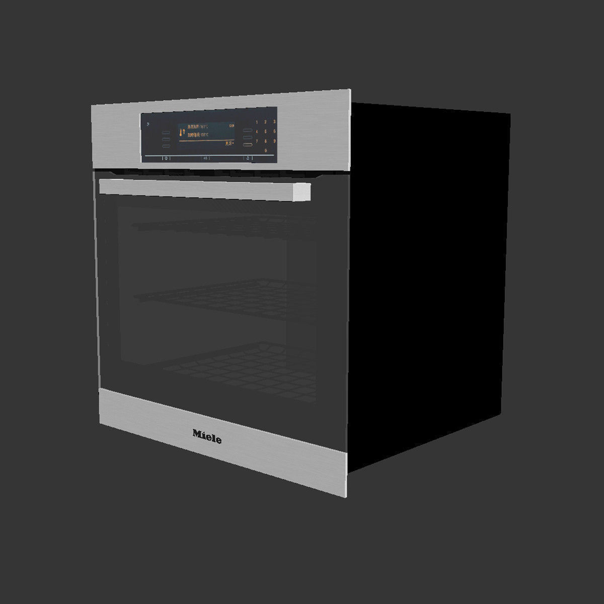 miele h5881bp oven 3d model max. Black Bedroom Furniture Sets. Home Design Ideas