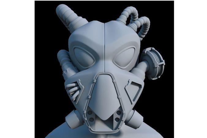 enclave helmet fallout 3d model stl 1