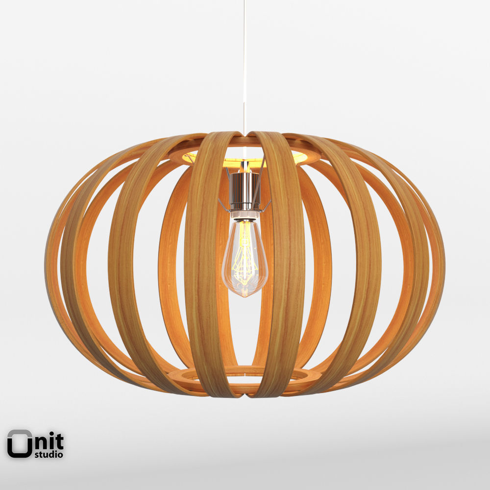 bentwood pendant oblong by west elm 3d model max obj 3ds fbx dwg ... & Bentwood Pendant Oblong by West Elm 3D model | CGTrader