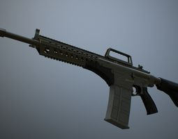 3D asset MPT-76 Trukish Battle Rifle