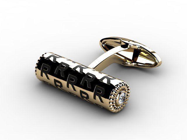 jewellery cufflink 3d model stl 1