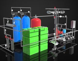 3D model Water purification system