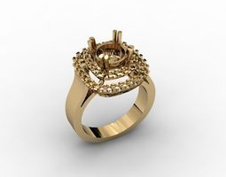 jewellery ring 3D print model detailed cad