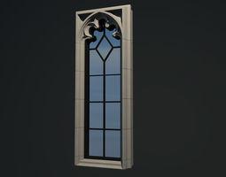 WINDOW arch gothic 5 pane 3D mullion