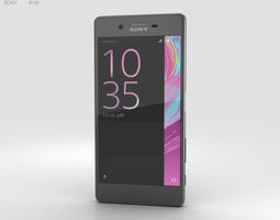 3D model Sony Xperia X Graphite Black