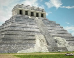 3D model Temple of inscriptions