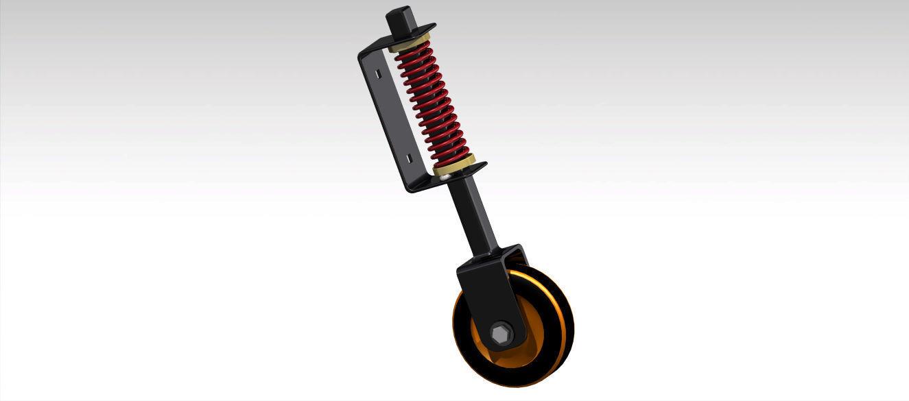 Heavy Duty Spring Loaded Gate Wheel Free 3d Model Stl