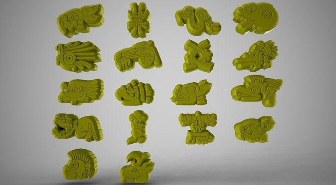 3d Asset Inca Symbols Cgtrader
