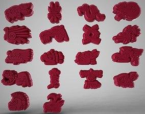 3D asset Inca Symbols