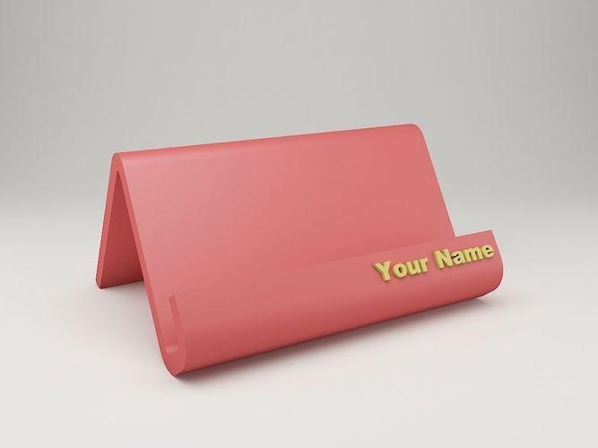 Modern Business Card Holder Print Model