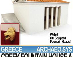 Ancient Greek Fountain House A 3D Model