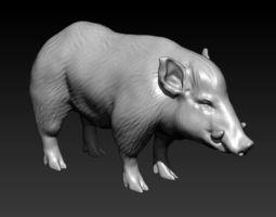 3D print model Wild Boar